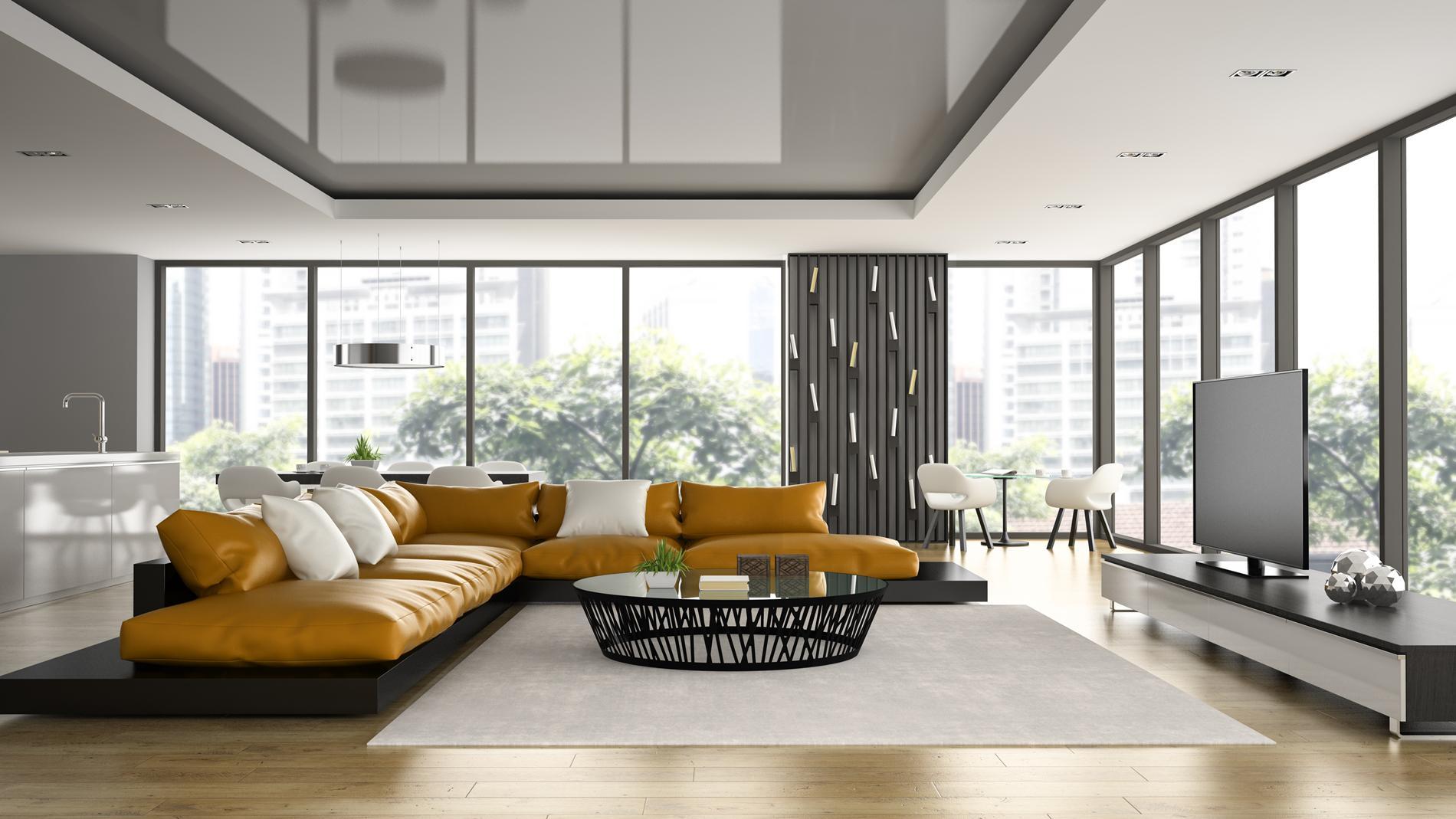 натяжні стелі в інтер'єрі квартири