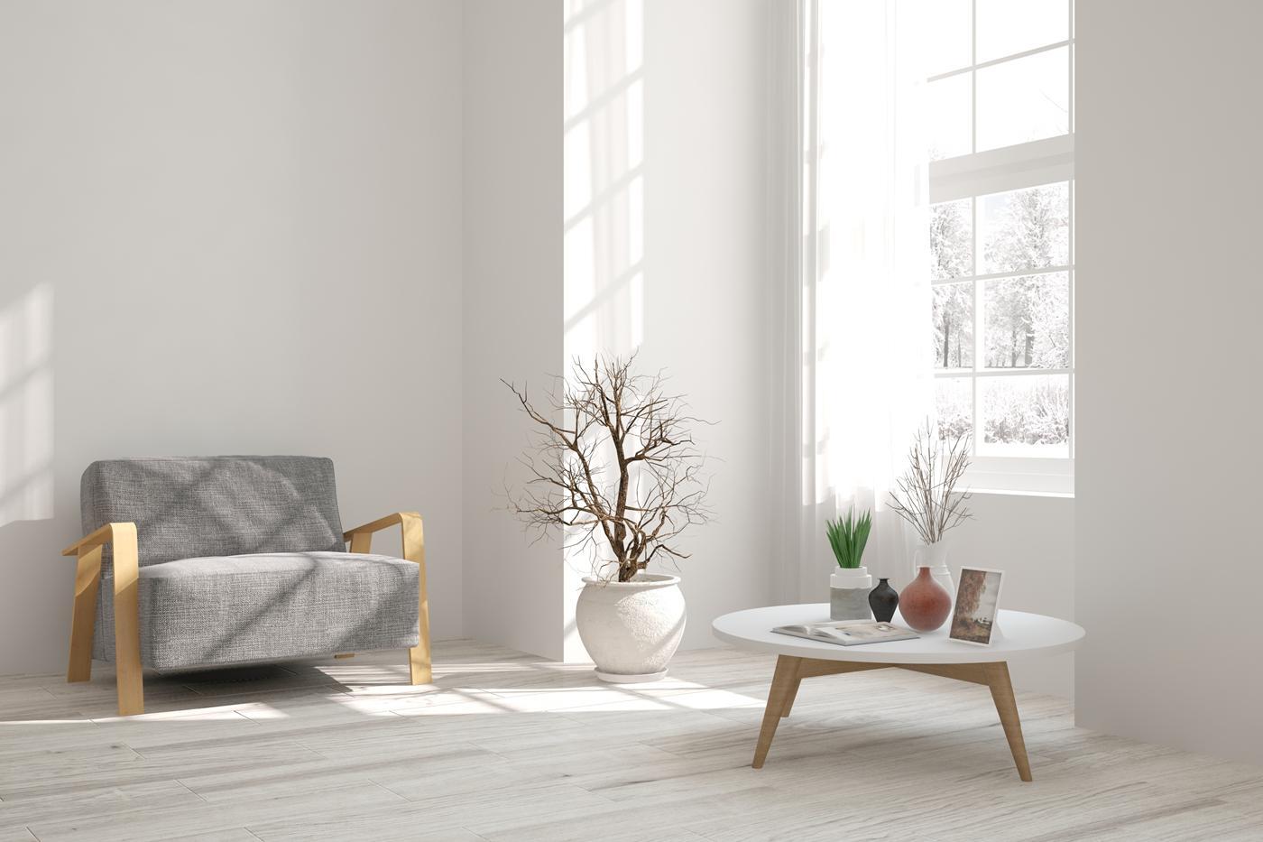 натяжные потолки в минимализме