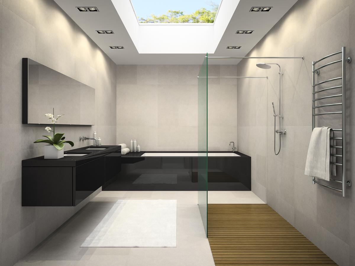 Натяжные потоли с фотопечатью в ванной
