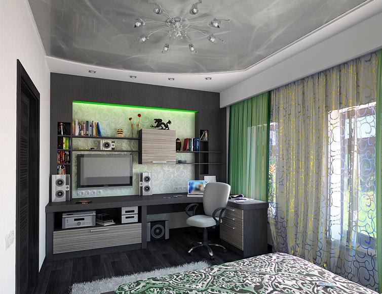 натяжные потолки с фотопечатью в спальню