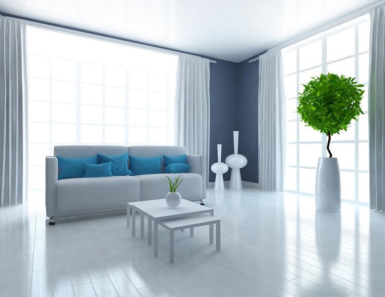 натяжные потолки стиль минимализм